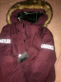 Crooks and castles winter jacket 2XL red Retail value is 249$ Toronto, M9C 5S3