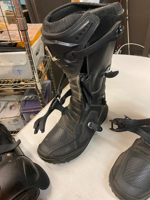 Oneal MX Mens Sz14 Riding Boots With Thor sector knees protection 3