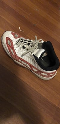 pair of white-and-red running shoes New York, 11354