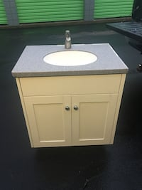 White and gray vanity sink North Easton, 02356