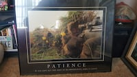 Framed Patience Motivational Picture Martinsburg