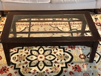 Wood coffee table with glass surface Fairfax, 22033