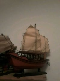 brown wooden galleon ship scale model
