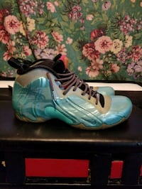 pair of blue-and-white Nike Foamposite Toronto, M1L 3K7