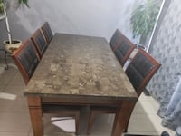 Marble dining table with 6 chairs  Brampton, L6P 1A4