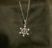 . 925 sterling silver and CZ snowflake necklace Kitchener, N2M 5E6