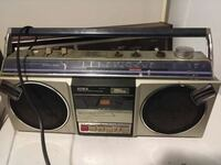 gray and black Aiwa cassette radio 2342 mi