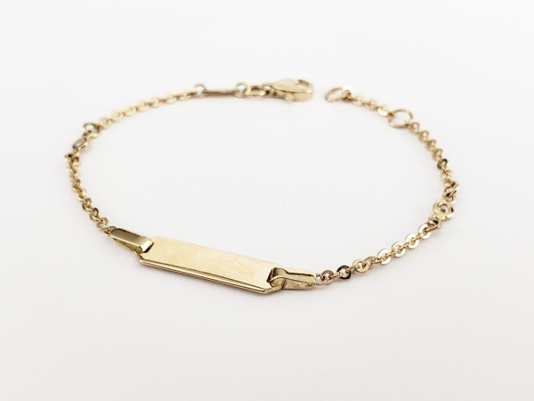 10k Yellow Gold Baby ID Bracelet 4