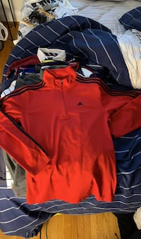 Red Adidas light track top