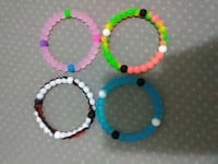 four assorted colors round beaded bracelet Hilo, 96720