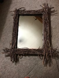 Mirror made with sticks