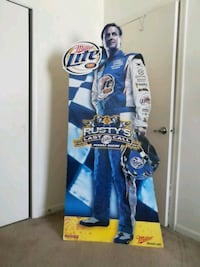 Rusty Wallace signed life size advertisement Indianapolis, 46217