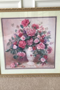 Art - beautiful Roses!  Reproduction Painting in rose gold frame Moorestown, 08057