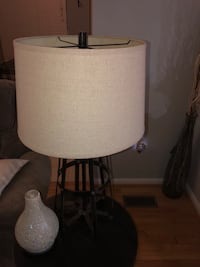 White and gray table lamp Milford, 19963