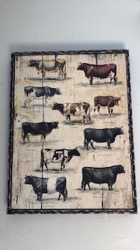 assorted-color cows painting