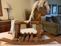 Brown and white wooden rocking horse St. Charles, 60174