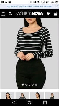 Brand New Black white long sleeve top L Columbia, 21045