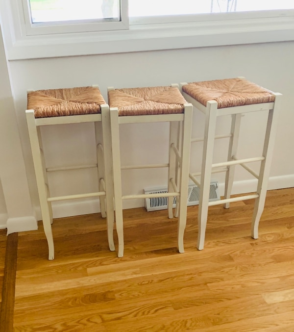 Wooden counter height  bar stools