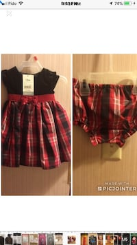 Girl Dress 2 Piece Size 12M Free 2 Gifts Check Pictures  Toronto, M4A 2K5