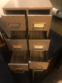steel index card file drawers