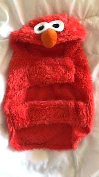 pet costume elmo size small fits like XS West Des Moines