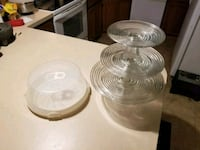 clear glass bowl and plate set Myrtle Beach, 29588