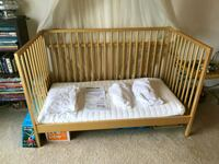 Gold Metallic painted IKEA crib and mattress w/ co Clearwater