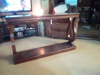 Brown wooden rectangular console table made by Tainoki.  Brand. New Chicago, 60641