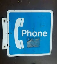 Pay phone metal sign Cape Coral, 33990