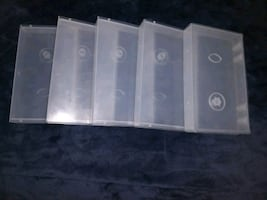 Clear empty protective VHS/VCR CASES (Lots of 5 cases)