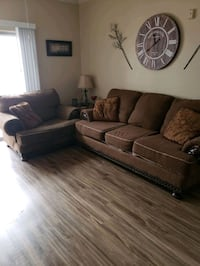 Couch, Lg Chair, End Table, Lamps
