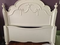white wooden headboard and footboard 5 km