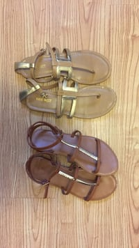 pair of brown leather sandals Vancouver, V5W 2B3