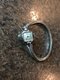 square silver-colored analog watch Columbus