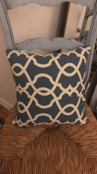 Navy and cream nautical pillow 34 km