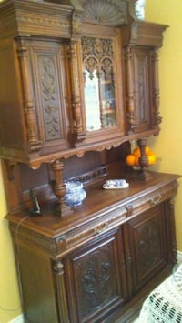 brown wooden framed glass display cabinet Mississauga, L4W 3M9