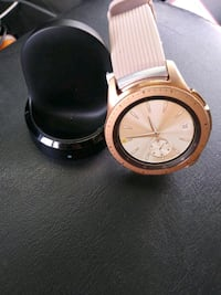 round gold-colored analog watch with white strap San Antonio, 78218
