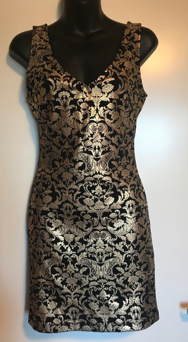 Used Forever 21 Gold Black Dress Size Small For Sale In San Jose