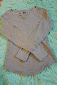 Gray button-up thermal shirt size L Erie, 16508
