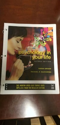 Psychology in Your Life 2nd Edition.  Woodbridge, 06525