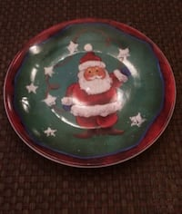 "Xmas Santa Plate 8"" Diameter Richmond Hill"