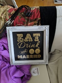 Eat, drink and be married sign Vancouver