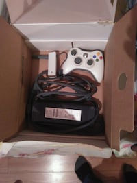 white Xbox 360 console with controller Toronto, M9N 2J3