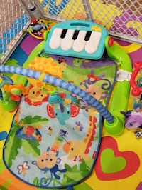 baby's green and blue activity gym 3248 mi