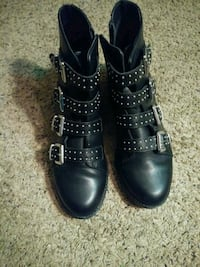 Size 9 Strapped black boots