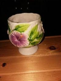 white and pink floral ceramic vase Fife Lake, 49633