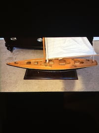 """HAND MADE WOODEN SAIL BOAT """"BEST OFFER """" $200"""
