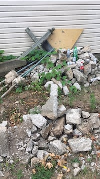 Cement stone pad backyard torn up patio rock  Niagara Falls, L2E 1Y9
