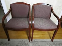two brown wooden framed gray padded armchairs Silver Spring, 20906