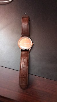 Titan Round analog watch with brown leather strap San Jose, 95123